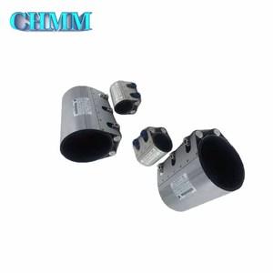 Carbon Steel Press Fittings Single Band Pipe Leak Repair Clamp Flexible Coupling For Pvc Pipes