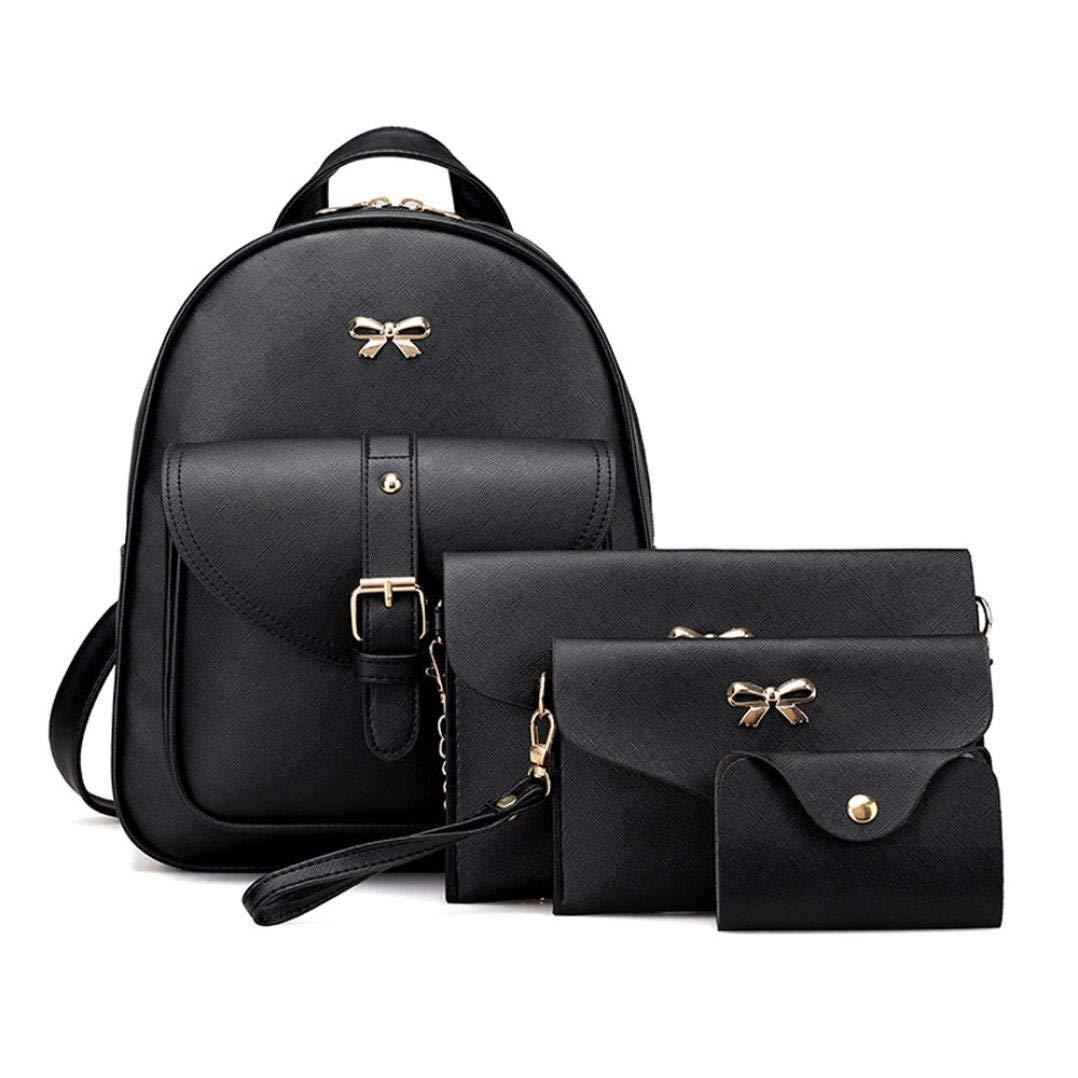 1eeedf6c3fed Get Quotations · BCDshop Women Girl School Backpack Satchel Rucksack With  Handbag