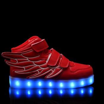 Hc K50r Flashing Colorful Kids Light Up Running Shoes Led Childern Boys Lighting