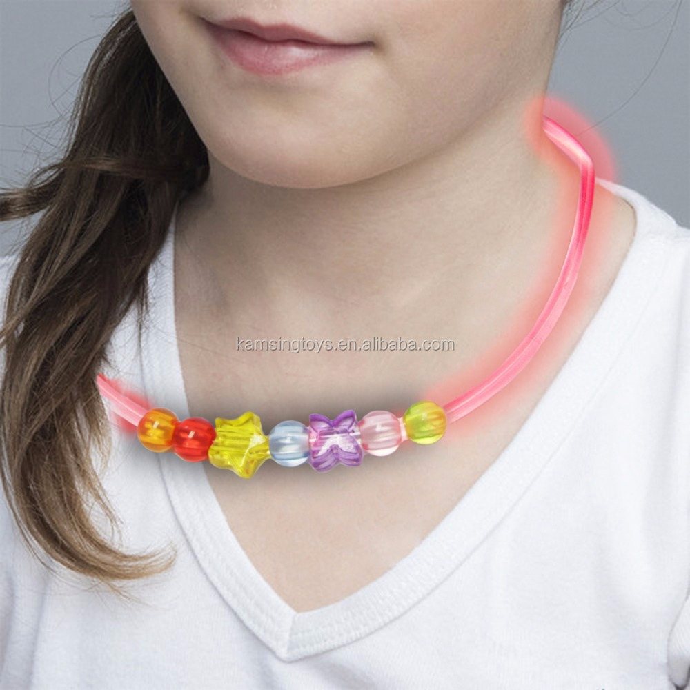 Unusual Safety Party led light ring necklace bracelet LED Ring for kids pets