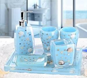 SBWYLT-Bathroom set with tray-style Eastern Mediterranean top grade resin bathroom toiletries new housewarming gift