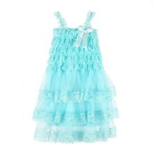 New Baby font b Dress b font Sweet Toddler Lace Rustic Baby Girls Kid Ruffle Wedding