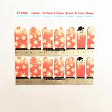 Pink Snowflake Lovely Nail Arts Sticker 14 pcs set Waterproof Nail Decal Art Sticker Gel Polish