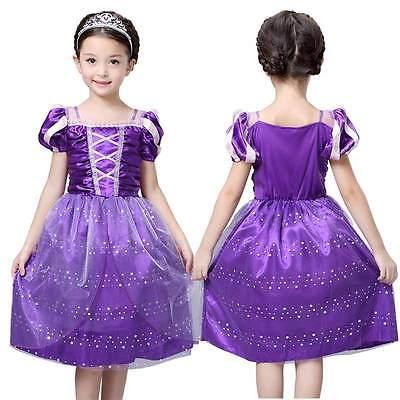 Girls Rapunzel font b Fancy b font font b Dress b font Costume Kids Princess Outfit