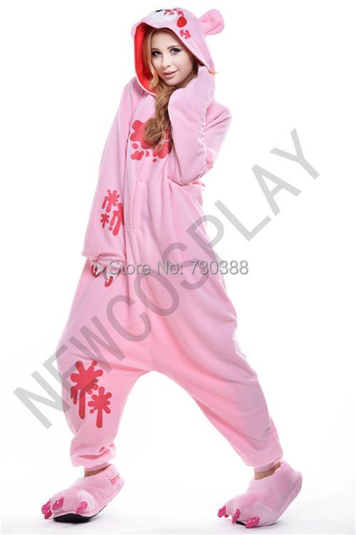 Get Quotations · Halloween Designer Anime Bear Gloomy Onesie for Adults Men  Women Kawaii Cosplay Fleece Pajamas Party Costumes 0b815c1326