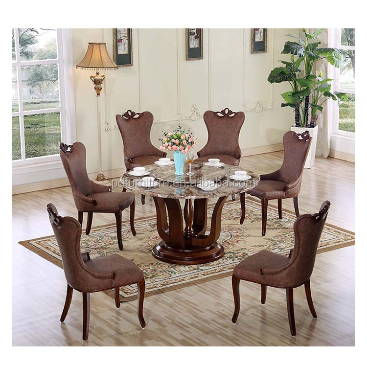 Best selling artificial stone dining table round table top classic round tables for export