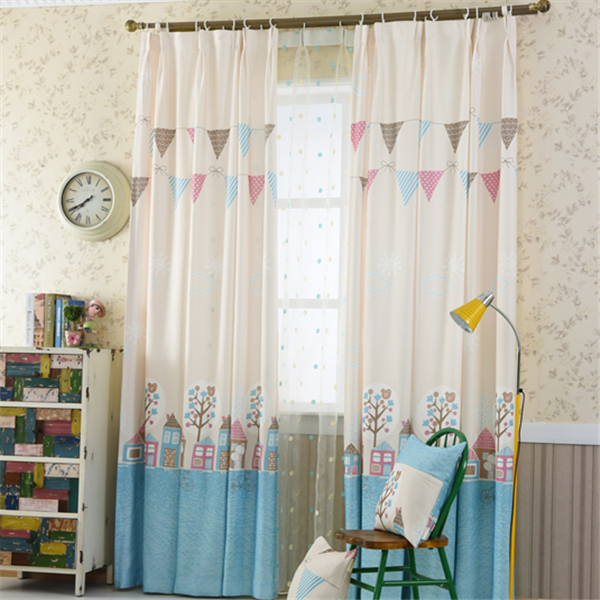 wholesale kids children cartoon cute fabric design blackout curtains printed