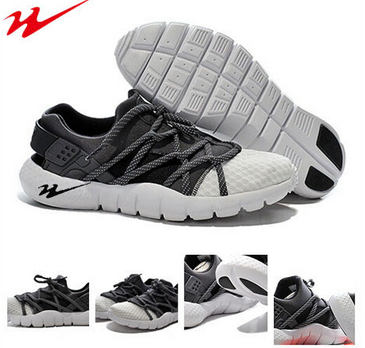 Hot sale cheap online onemix 2015 new Anthracite / White huarache oreo mens trainers Running Sports Shoes zapatillas running