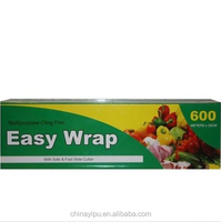 33cm x 600m Cling Wrap with Slide Cutter Food Wrap Film