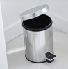 Indoor Two Barrel Recycling Leather Litter Dustbin For Hotel Bathroom