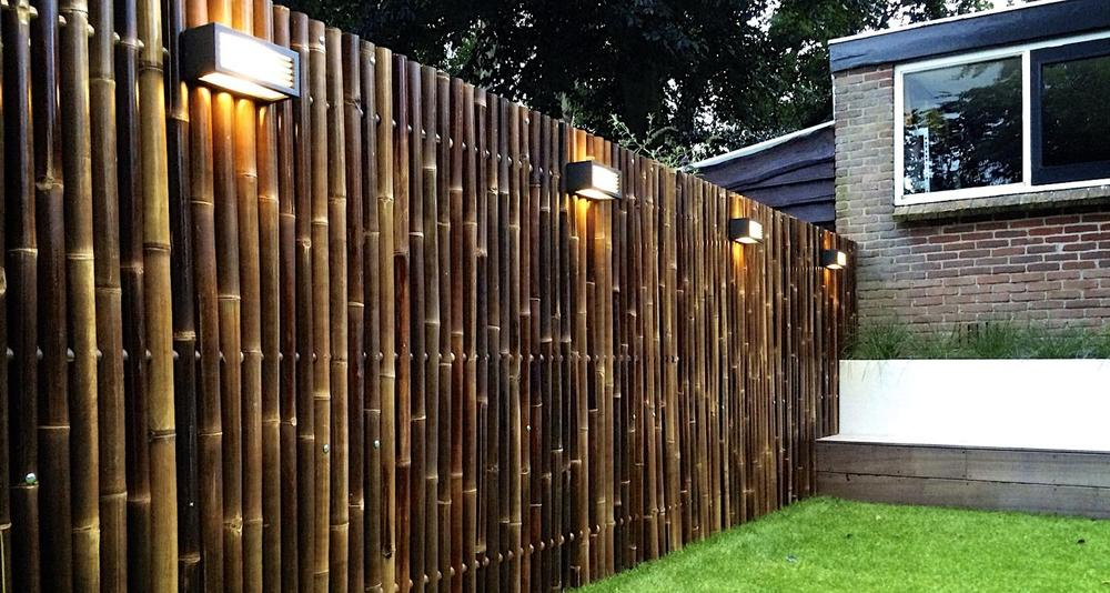Carbonized brown decorative bamboo fencing supplier buy