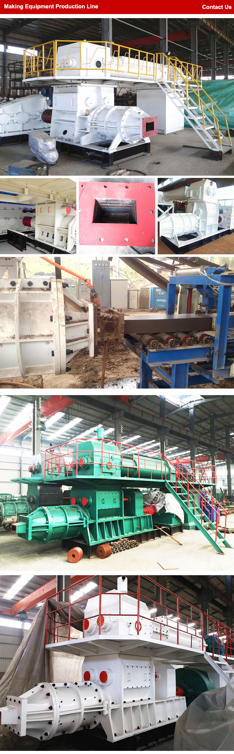 Automatic vacuum extruder for clay brick making machine