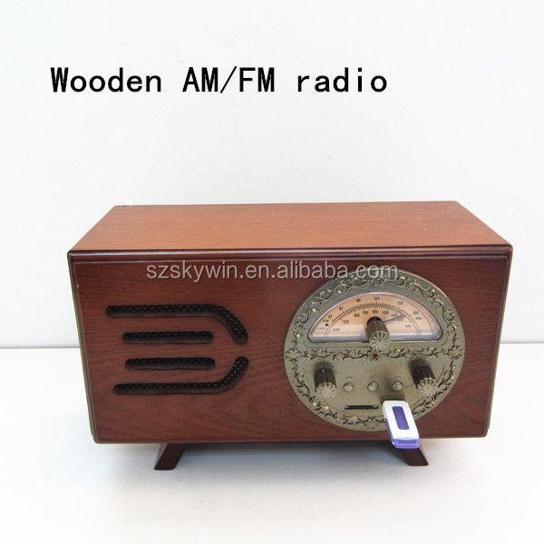 Portable Wooden Am Fm Vintage Radio With Usb Sd Mp3 Player