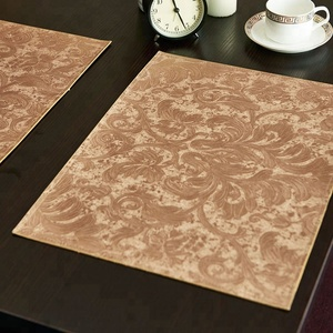 Floral pattern placemats PU leather table mats waterproof oil proof mats Heat & Stain Resistant Easy to Clean