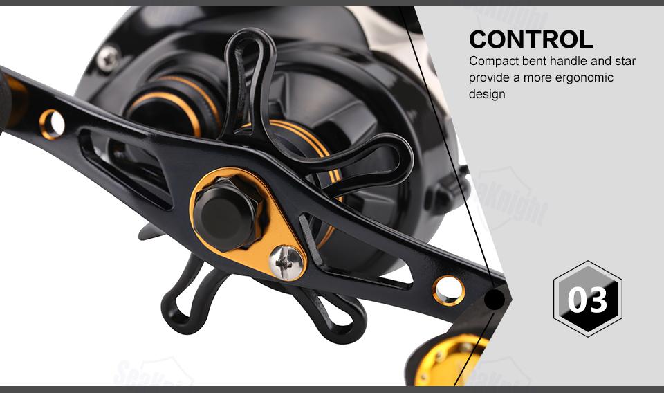 SeaKnight LYCAN HG Baitcasting Reel 7.0:1/11+1BB 5KG Carbon Fiber Drag System Magnetic Brake Systems 205g Fishing Wheel