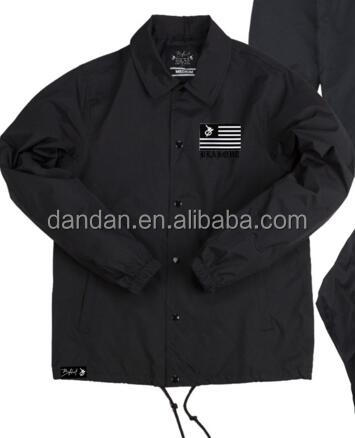 Nylon windbreaker coaches jacket for promotion
