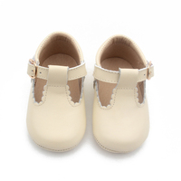 Customized Pattern Soft Leather Baby Mary Jane Shoes Fancy Baby Girls Shoes