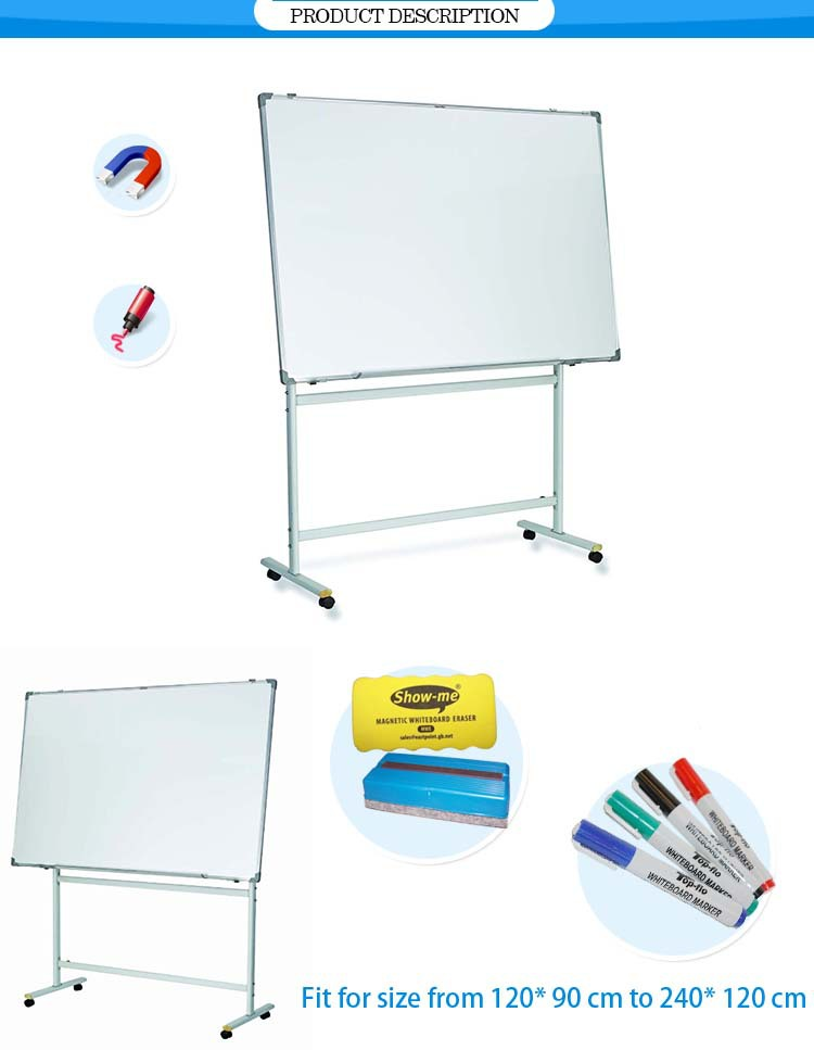 Customize Whiteboard With Stand Fit For Size Metal Reversible ...