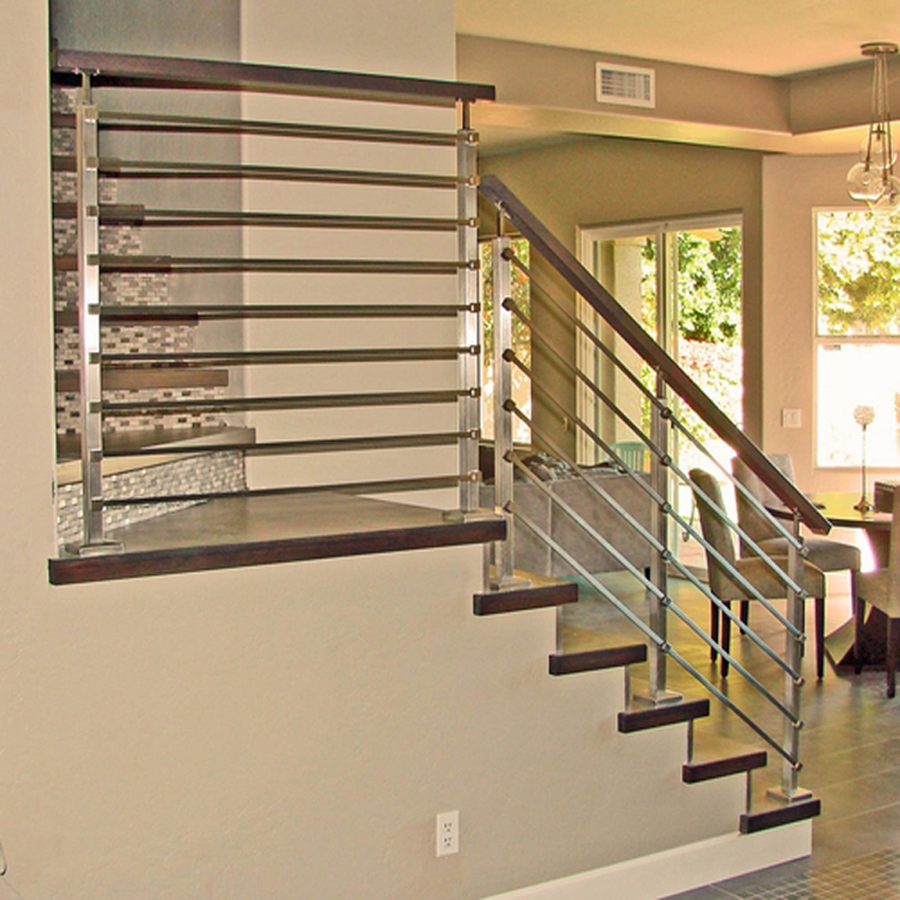 Hot Sale Stainless Steel Indoor Stair Railings With Square