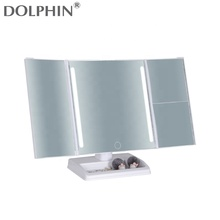Rotating 360 Degree Table Lighted Makeup Mirror 10X Magnification