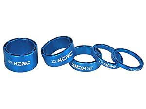 KCNC Hollow Alloy Headset Spacer Blue 10mm