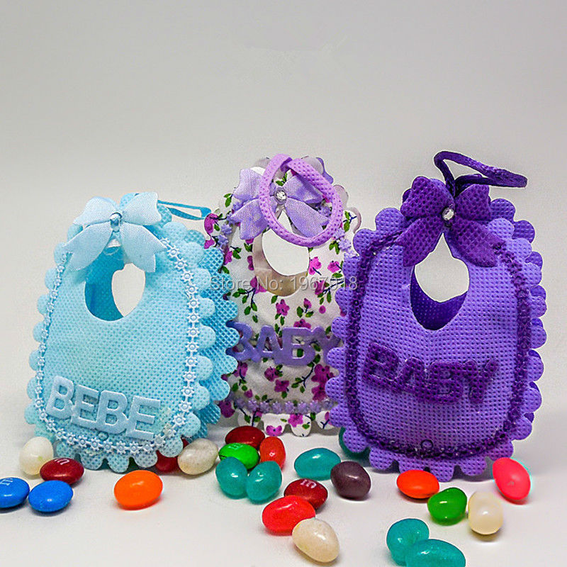 Adorable Baby Bibs Candy Bags Shower Decoration Favor Gift Birthday Baptism Party Supply Return
