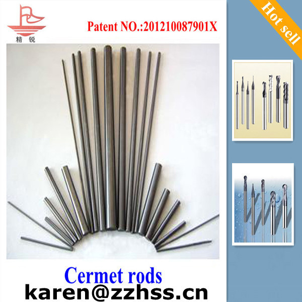 TiCN ceramic rods cermet rods/tips/inserts/blank/plate in finishing parts better than carbide cutting tool carbide end mill dril