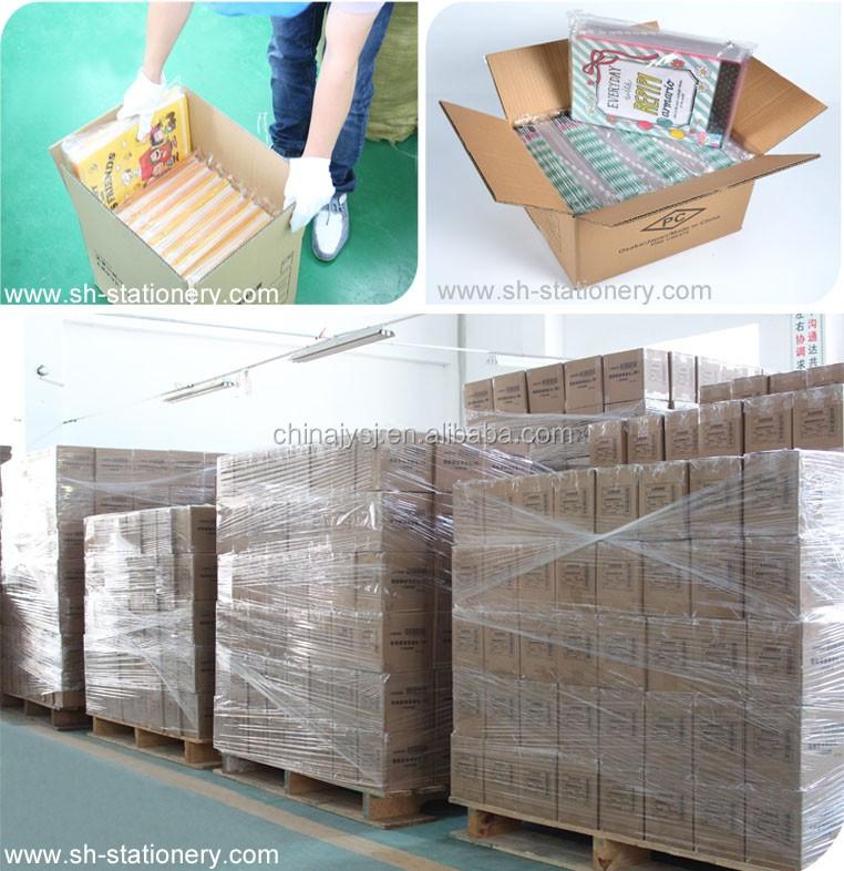 school stationery clear 3 pockets high quality plastic file folder
