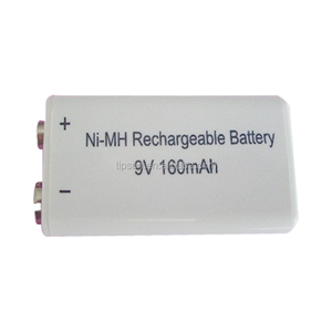 OEM acceptable 9V NI-MH rechargeable prismatic Battery 160mAh