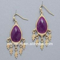 EXQUISITE gem a basket of flowers ear studs ( purple )