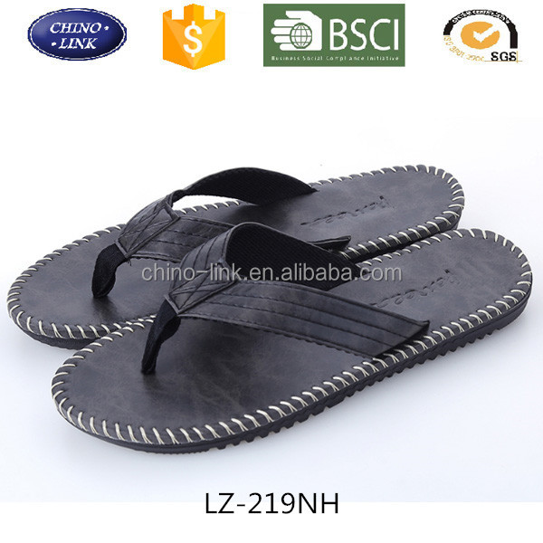 2017 New Arrival Summer Fashion PU Leather Men Flip Flops Beach Sandals Non Slide Slippers Zapatos Hombre