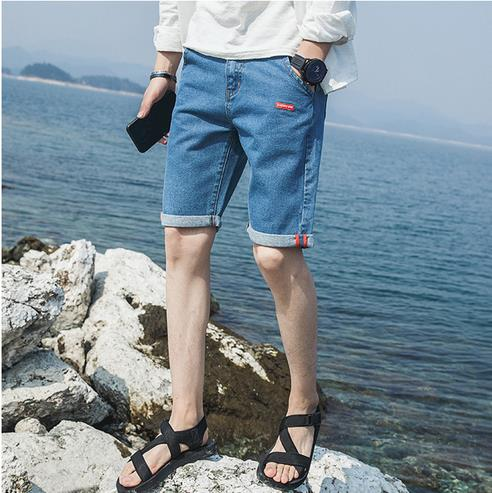 Men denim shorts jean shorts for men cargo pocket new fashion in 2017