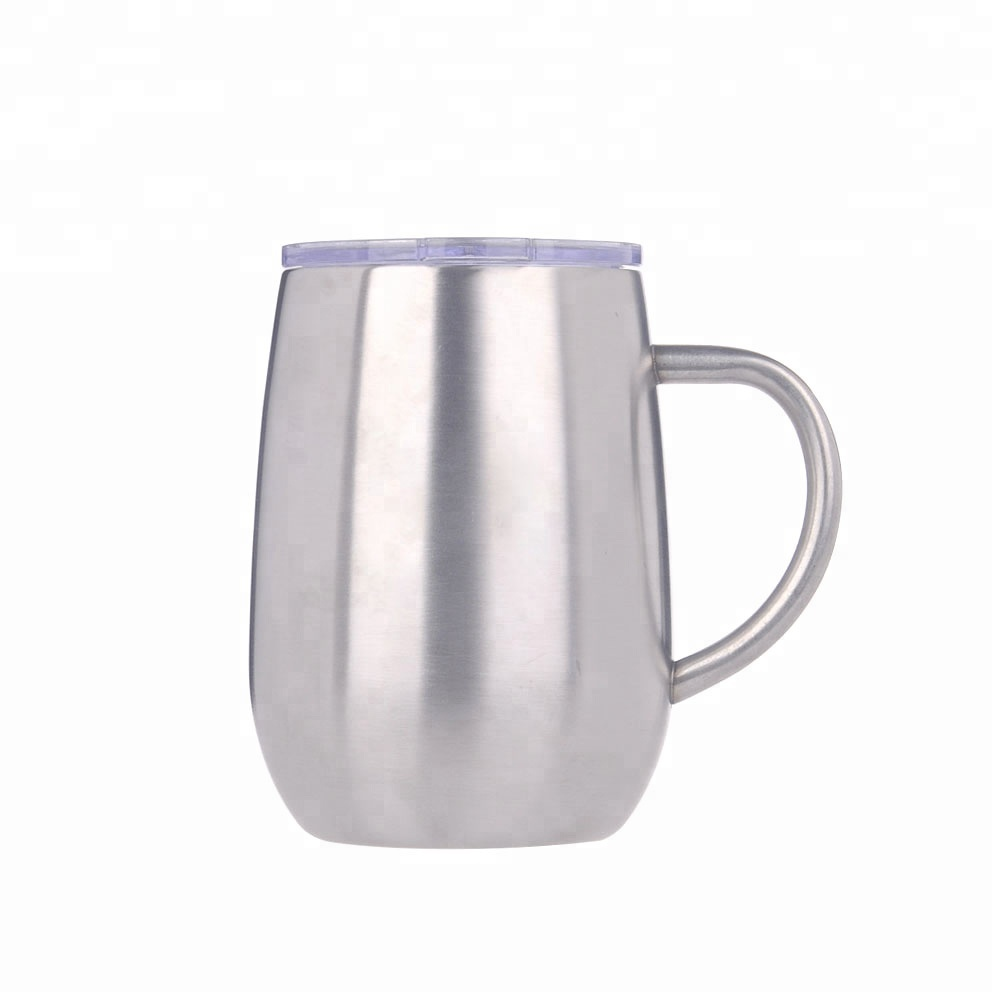 wholesale  380ml custom printing high grade stainless steel double wall insulated thermal tumbler with button screw lid