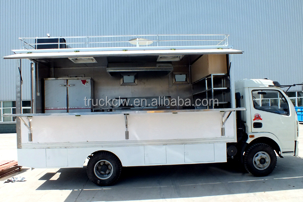 Stainless Steel Mobile Food Truck With Potable Water Tank