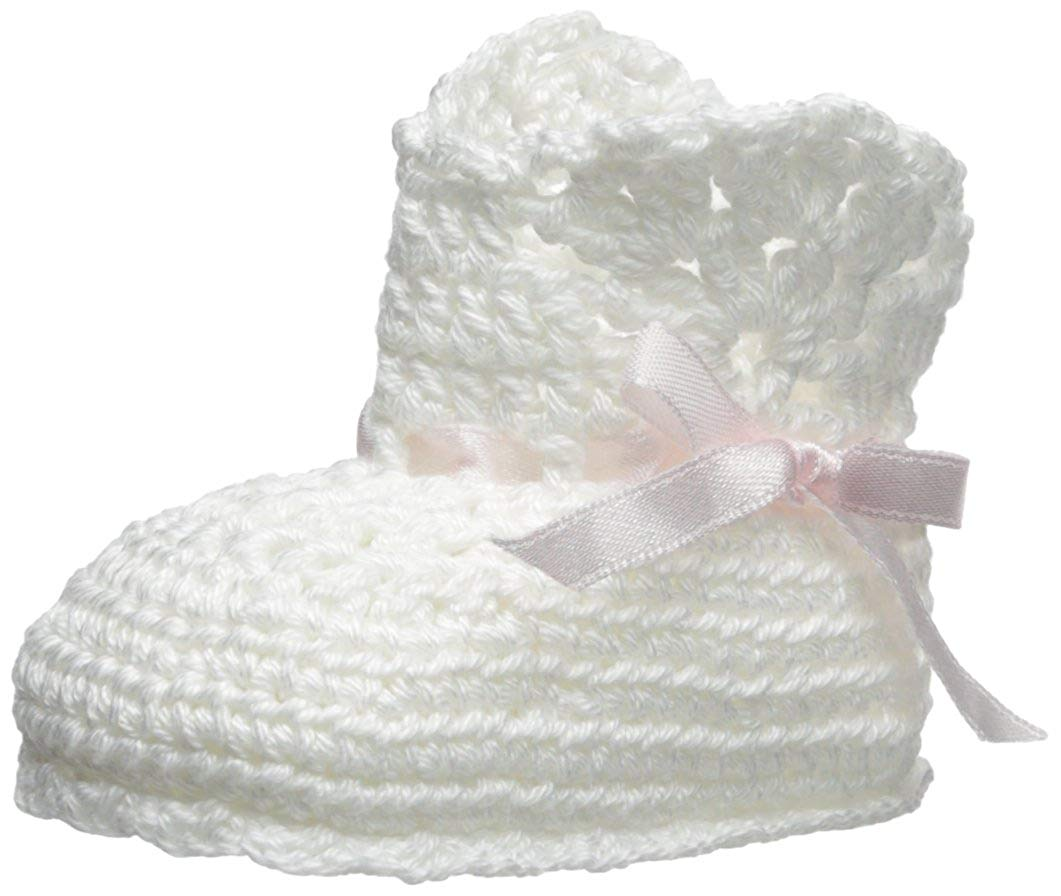 d9bab3bc6c8 Jefferies Socks Baby-Girls Hand Crochet Ribbon Boot Bootie