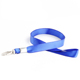 Custom Blue Flat Nylon Printed Lanyard With Safety Release