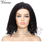 VMAE Brazilian 10 To 26 Inch Soft Natural Color 150 Density Full Lace Cuticle Aligned 4A Afro Kinky Curly Wig Virgin Human Hair