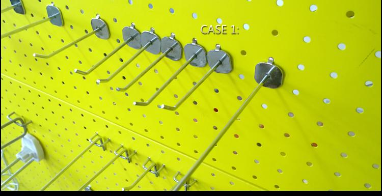 Metalen Doorgelust Lock Pegboard Geperforeerde Panel En Koe Haken