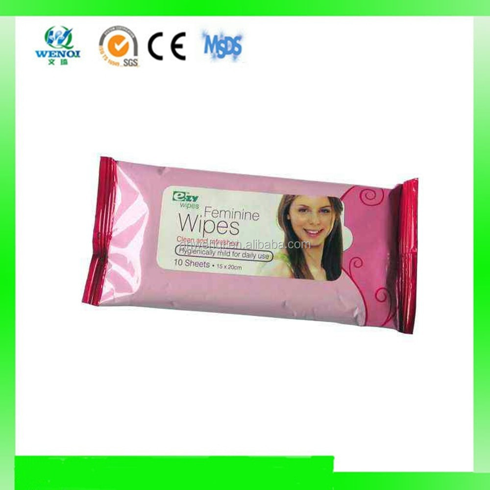 Clean and refreshed feminine personal wipes