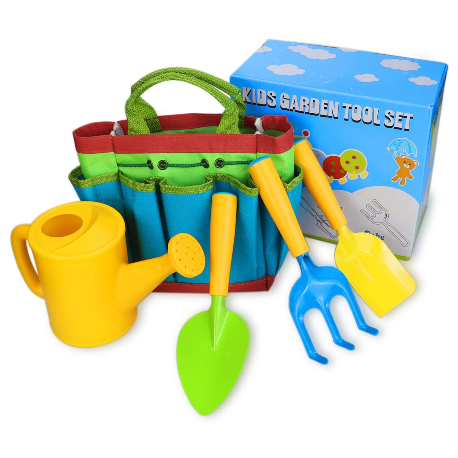 LUNIQI Kids Garden Tools Set for Kids to do Gardening & Planting, Garden Tools for Weeding or Outdoor Play, Great Gift for a Little Gardener