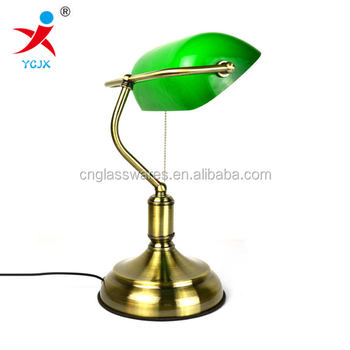 Classic green glass lamp shade wholesale factory price banker desk classic green glass lamp shade wholesale factory price banker desk lamp aloadofball Images