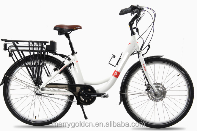 2016 nice city ebike with rear rack battery