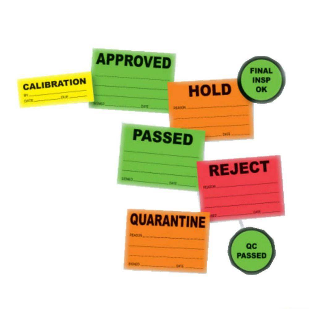 Kustom dicetak perekat labelscolorful label untuk qc qc dan roll perekat label stiker untuk qc