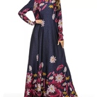 flower girl latest design dubai long sleeve maxi islamic clothing women muslim dress