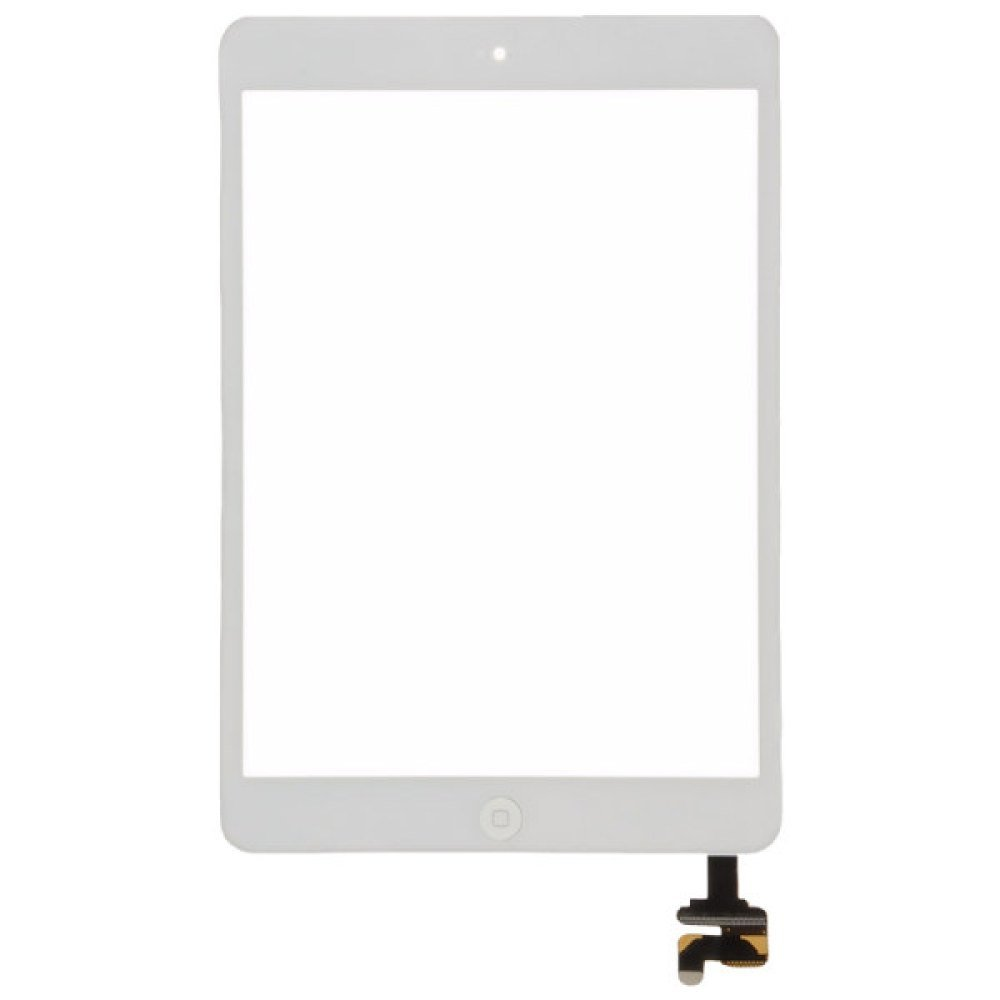 Digitizer & IC Connector (Pre-Soldered with Adhesive & Resistors) for Apple iPad Mini (White) with Glue Card