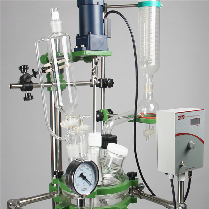Laboratory using double jacketed glass reactor