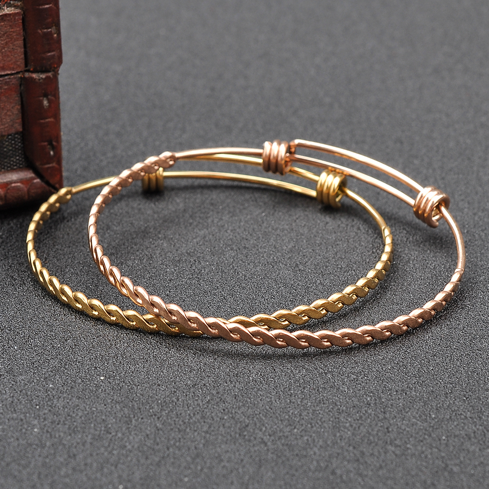 Custom Wholesale Expandable Adjustable Bracelet Baby Gold Bangles Designs