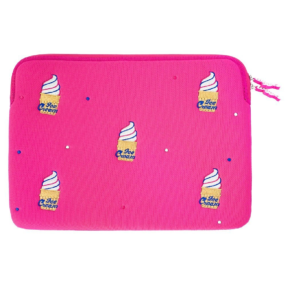 "wiggle wiggle Laptop Sleeve - Ice Cream 13"" Pink"