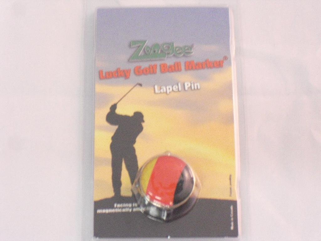 Zoogee Magnetic Lapel Pin & Domed Golf Ball Marker German Flag