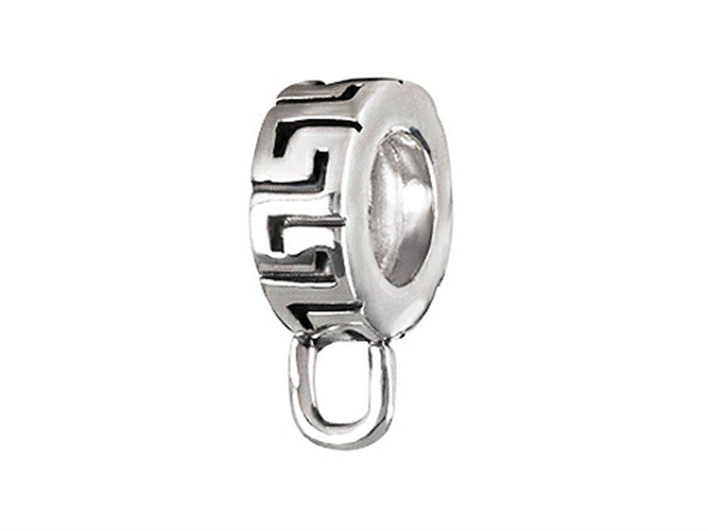SilveRado Verado Sterling Silver Maze Carrier Bead/Charm